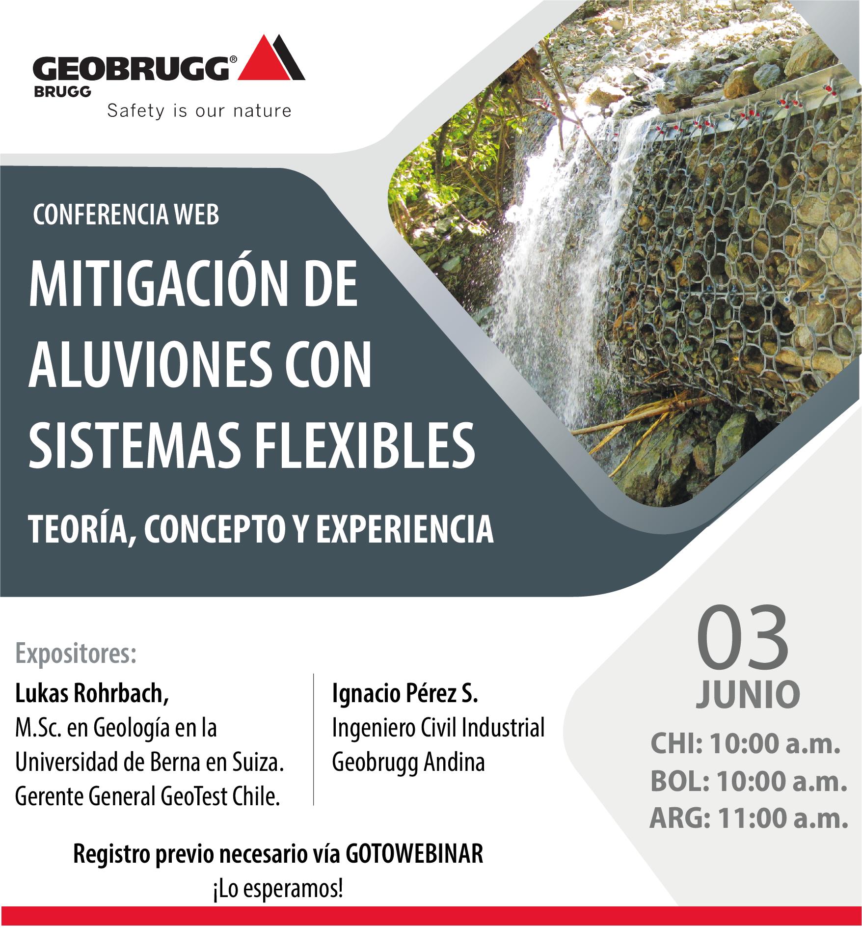 Webinar de Geobrugg - empresa suiza de la camara chileno suiza de comercio