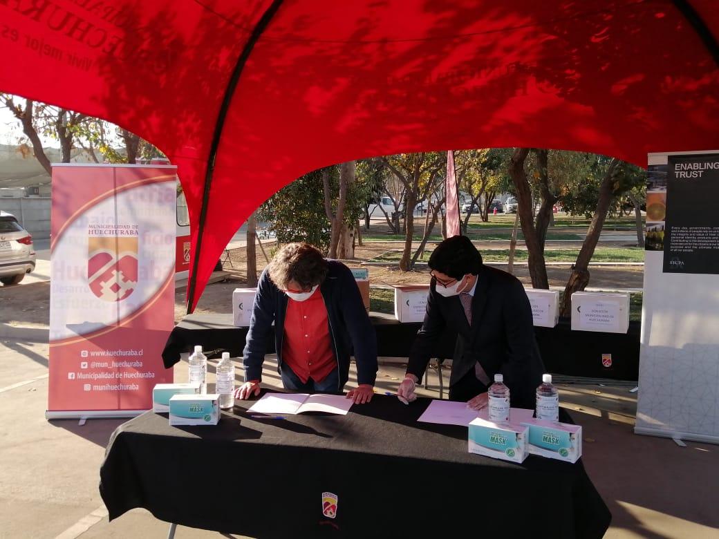 SICPA - Empresa Suiza entrega donación a organizaciones publicas