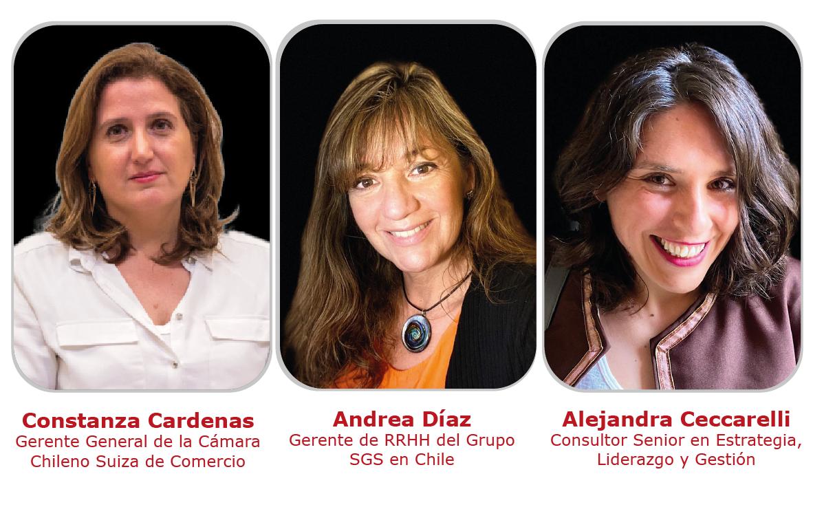 Moderan - - Expositora Webinar de Innovación Camara chileno suiza