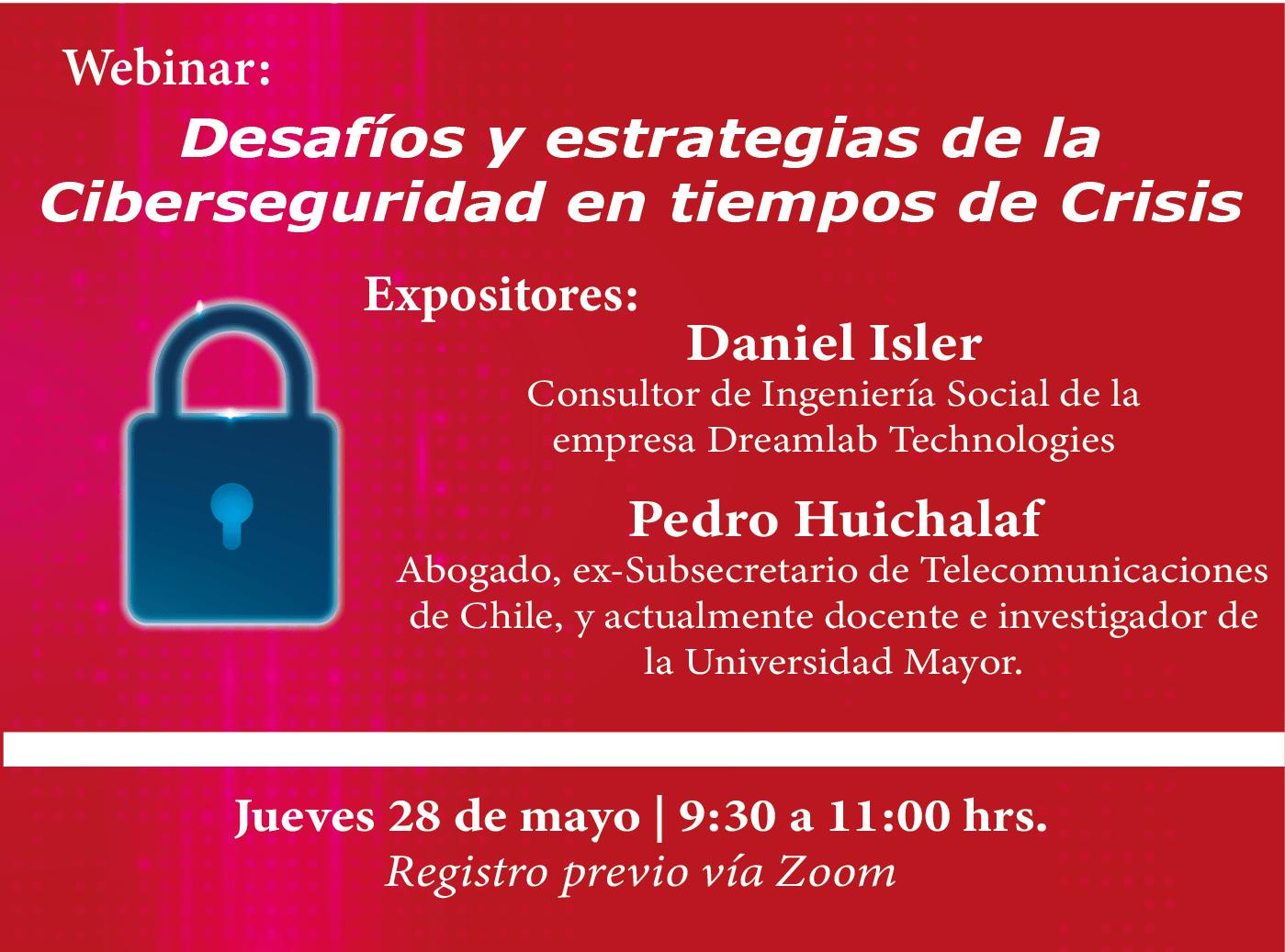 Webinar Ciberseguridad en tiempos de crisis - Camara Chileno Suiza de comercio - empresas suizas en chile