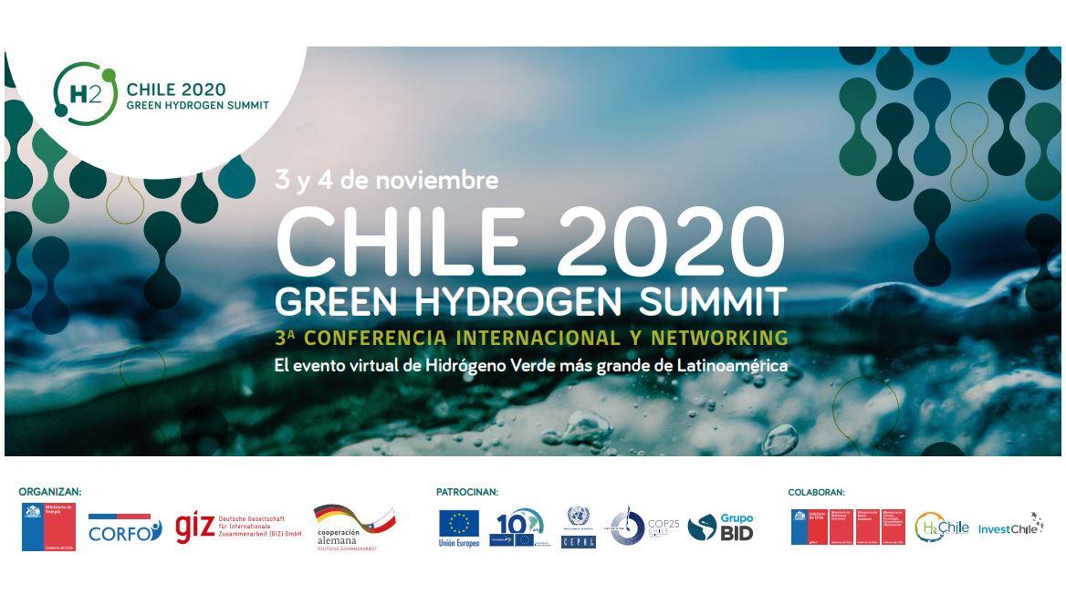 Evento Green Hydrogen Summit Chile 2020, - Cámara Chileno Suiza de Comercio