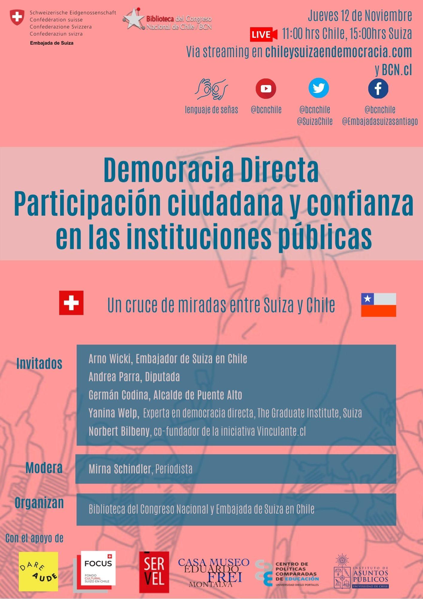 """lanzamiento de la exposición """"Chile y Suiza en Democracia"""""""