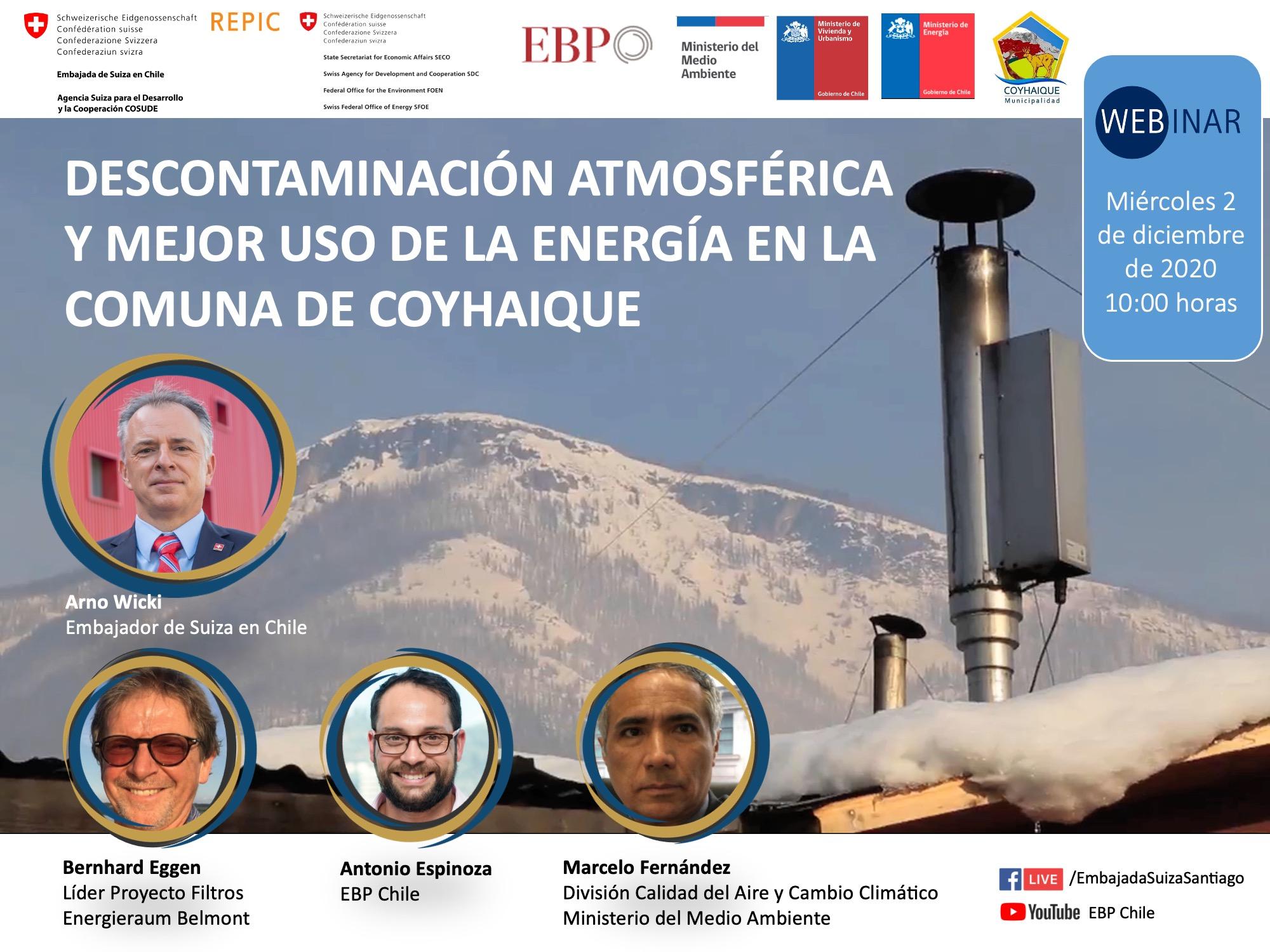 descontaminación atmosférica y mejor uso de la energía en la comuna de Coyhaique